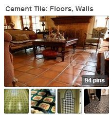 Avenete Tile's Pinterest board on cement tile floors, walls