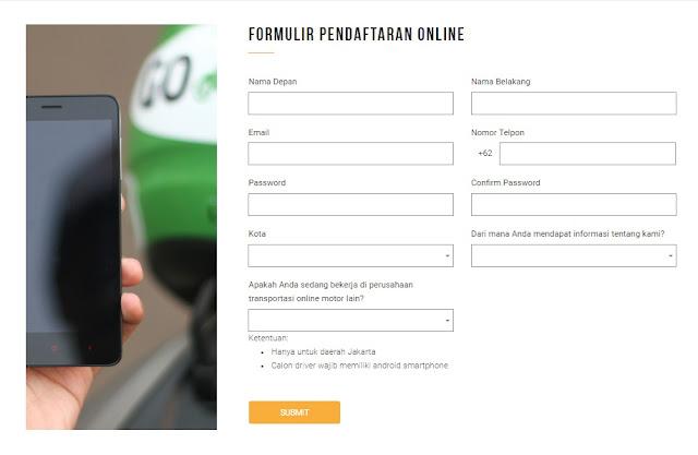 Cara Daftar Driver Gojek Secara Online Terbaru, Mudah Dan Simpel
