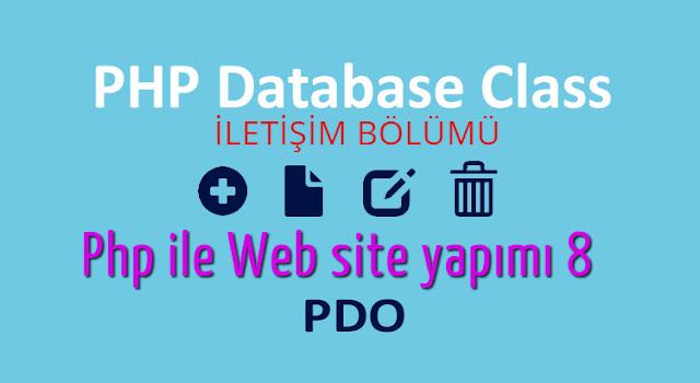 php ile iletisim bolumu yapımı