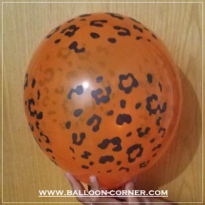 Balon Latex Print Motif Macan Tutul