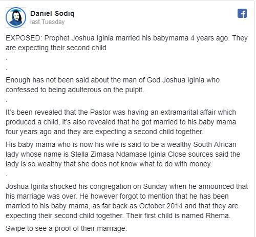 Meet Stella Zimasa Ndamase, Prophet Joshua Iginla's South African Prophetess Baby-mama