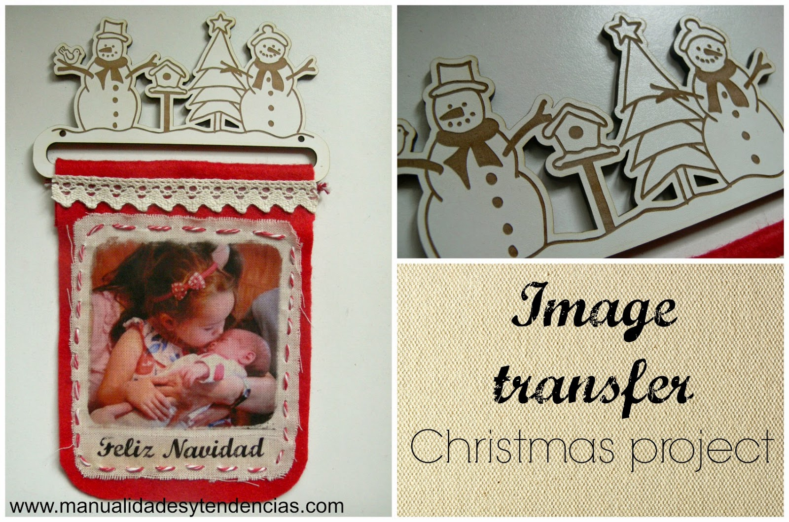 image transfer Christmas project