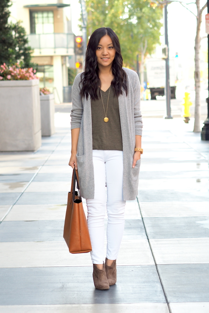 5 Outfits With a Grey Cardigan | Putting Me Together | Bloglovin'
