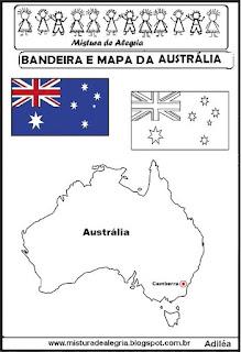 Bandeira e mapa da Austrália