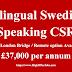Swedish Speaking Outbound B2C Sales Representative -£37,000