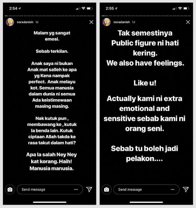 Nora Danish Terkilan Dan Sedih Netizen Kutuk Dan Hina Fizikal Anaknya