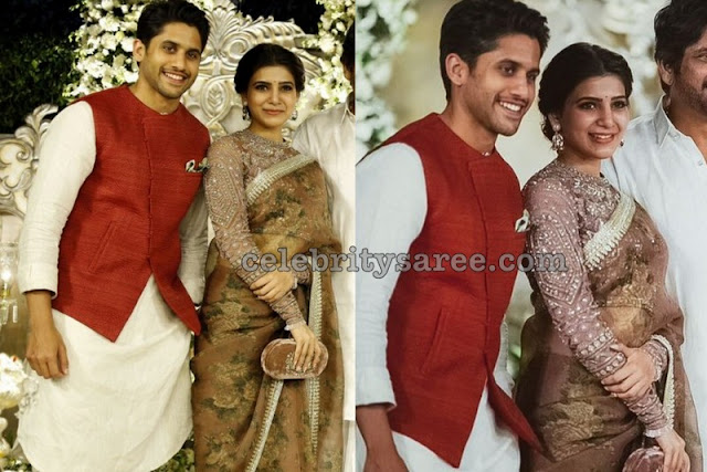 Samantha Naga Chaitanya at Akhil Engagement