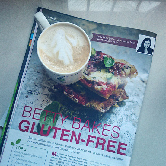 wellness magazine, interview, gluten free, sa food blogger, betty bake, food blog, article, print