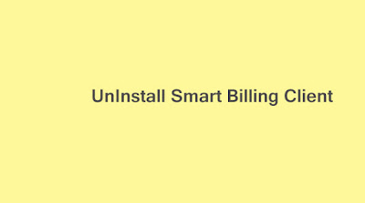 Uninstall Smart Billing Client