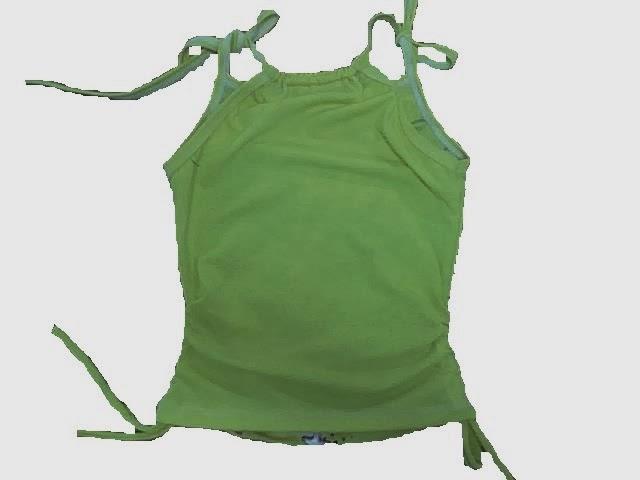 blusa de tiras con estampado y amarre en costado