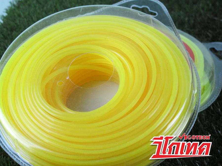เอ็นตัดหญ้า 3.0 มิล (สีเหลือง) ใช้ได้กับเครื่องตัดหญ้าทุกยี่ห้อ