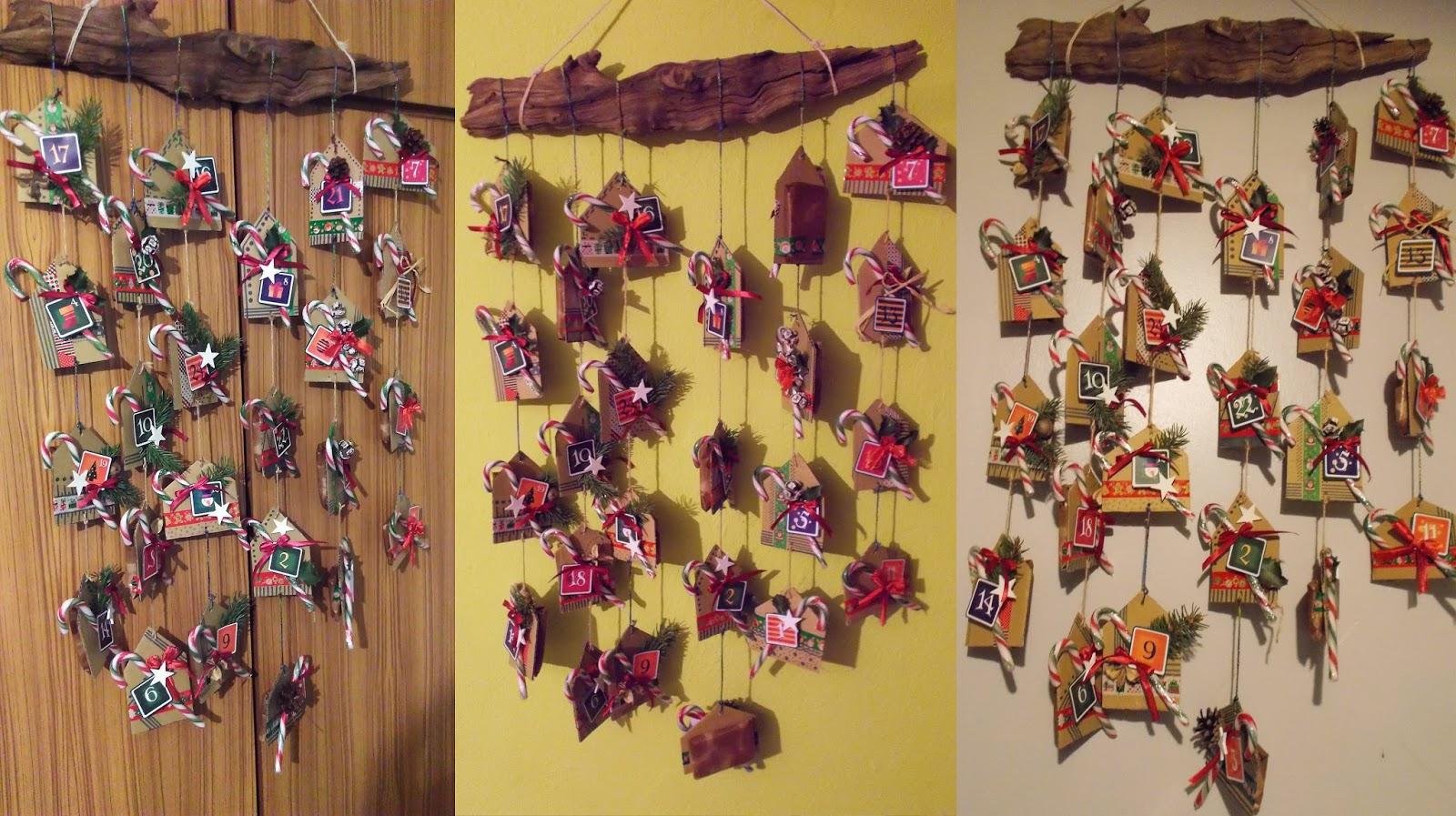 kalendarz adwentowy domki