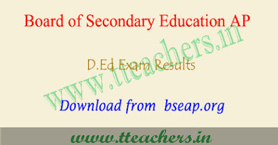 AP D.Ed 1st year results 2021 from bseap.org & manabadi