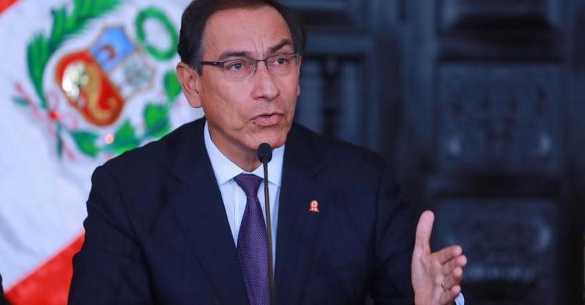 Presidente Martín Vizcarra tomará juramento a ministro de Justicia mañana sábado en Palacio de Gobierno