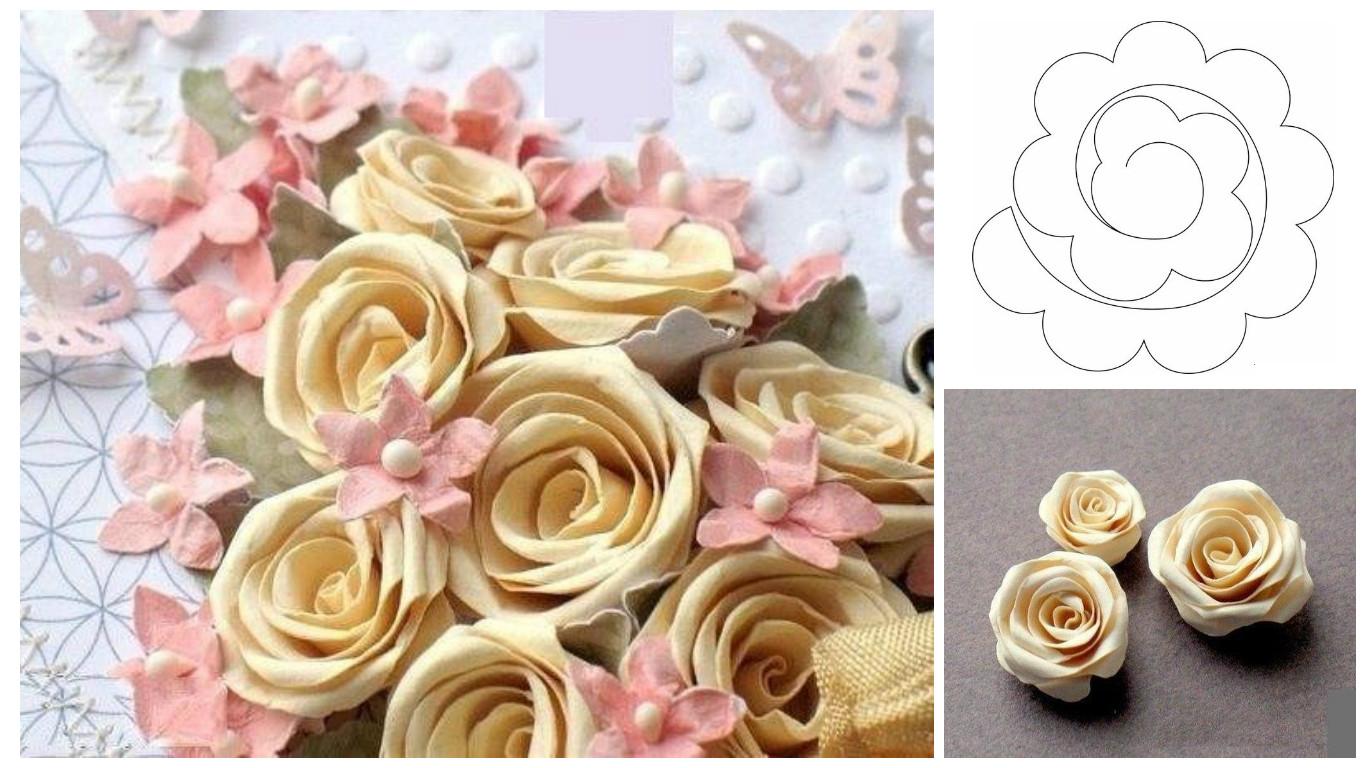 Cmo hacer rosas de cartulina fcil y bonita paso a paso Solountipcom