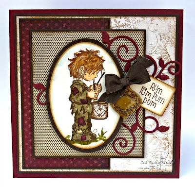 Stamps - Our Daily Bread Designs Little Drummer Boy, Large Snowflake Background, ODBD Fancy Foliage Die, ODBD Recipe Card and Tags Die, ODBD Fancy Ornaments Die