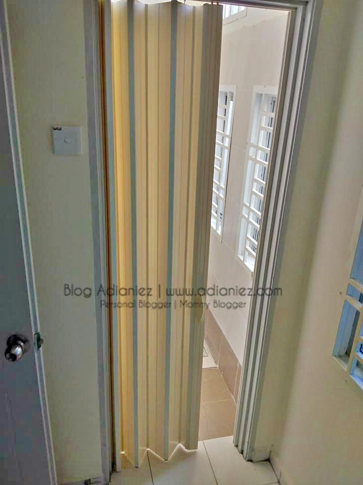 Tukar Pintu Tandas Aluminium Bi Fold Door