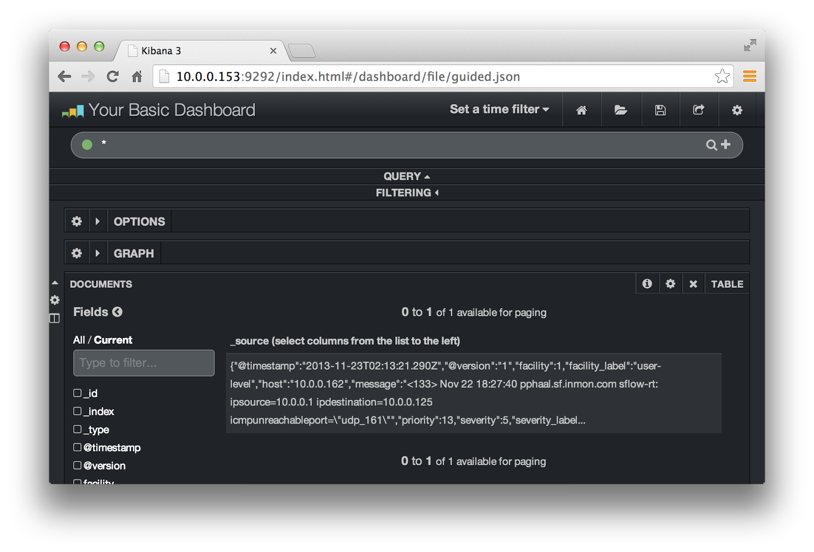 sFlow: Exporting events using syslog