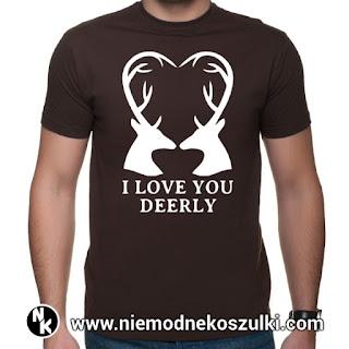 Koszulka I love you deerly