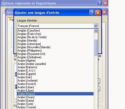 la langue arabe pour windows xp sp3 gratuit