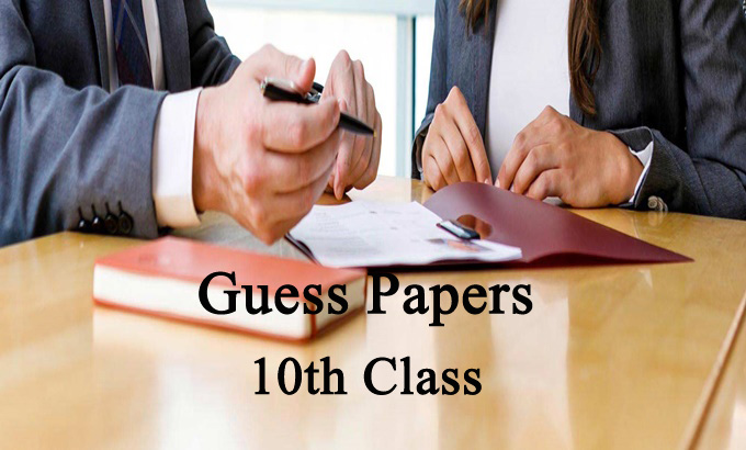 10th Class Guess Papers all Punjab Boards - Rashid Notes