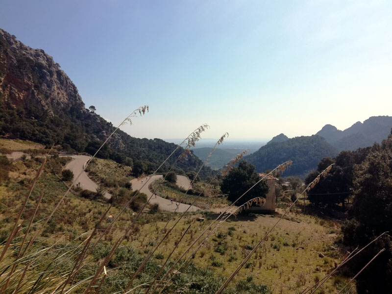 Discesa verso Palma dal Coll de Sóller