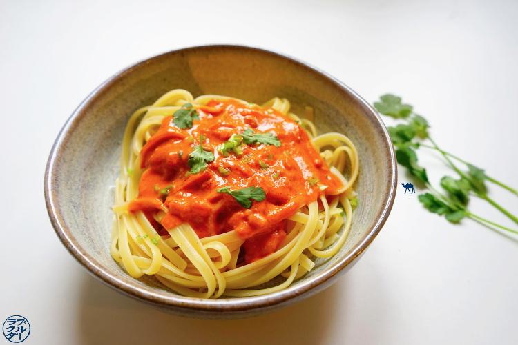 Le Chameau Bleu - Blog Cuisine et Voyage - Recette Asiatique sauce pour pâte rapide - Sauce CoCo Tomate Gingembre