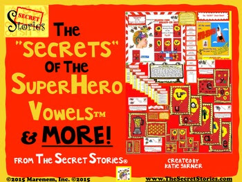 "Secret Stories® Phonics —""The SECRETS of the Superhero Vowels & MORE!"" Bundle"