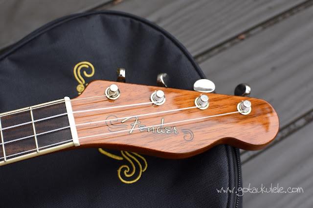 Fender Montecito Ukulele headstock