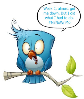 Tweet bird, NaNoWriMo, week 2 text