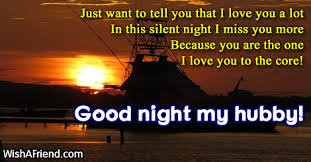 good night my dear husband