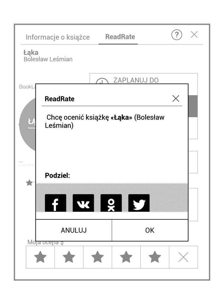 PocketBook Touch HD 3 – dodawanie oceny książki w ReadRate