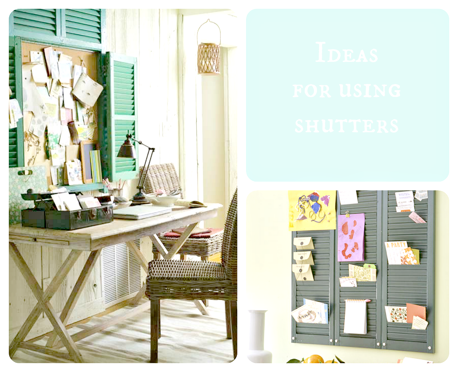 shutter decor ideas