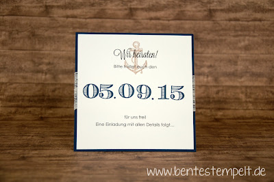 save the date hochzeit stampin up the open sea