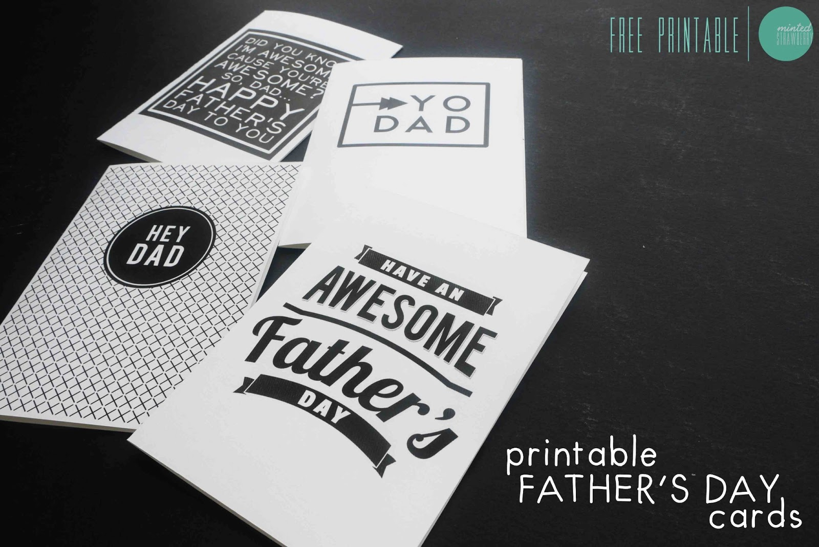 Free Printable: Father's Day Cards - Minted Strawberry