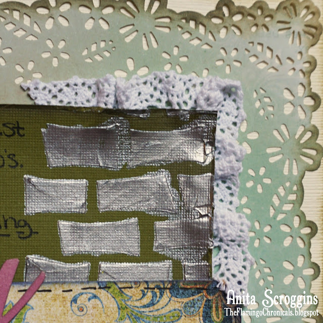 Mixed Media scrapbook background