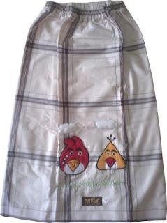 Sarung Intan Krem Karakter Angrybird