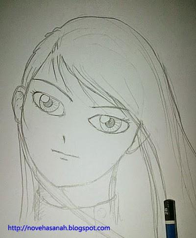 Cara Menggambar Anime Wajah Cewek