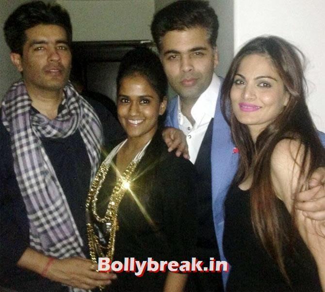 Manish Malhotra and Karan Johar with Arpita and Alvira Agnihotri, Bollywood celebs Christmas Pictures