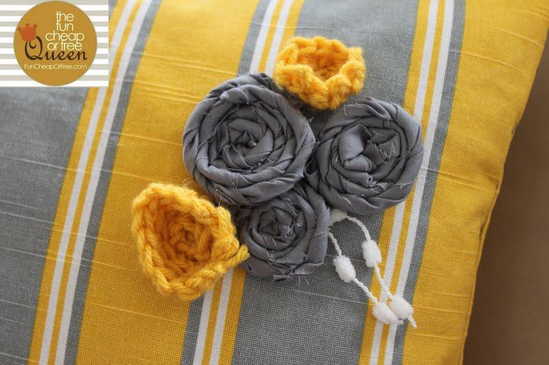 Yellow Amp Gray Nursery Tutorials Pillow Tutorial