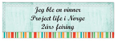 Vinner hos Project Life Norge 2 års feiring!
