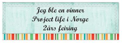 Vinner hos Project Life Norge 2 års feiring!