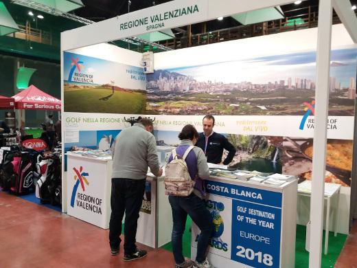 Turisme CV promociona los campos de golf de la Comunitat Valenciana en el mercado italiano
