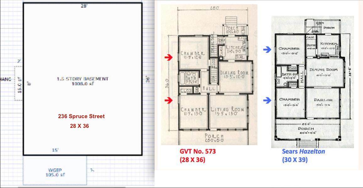 Sears house seeker july 2016 sears hazelton footprint compared to gordon van tine 573 517 malvernweather Images