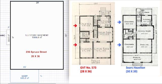 sears hazelton footprint compared to gordon van tine 573 517