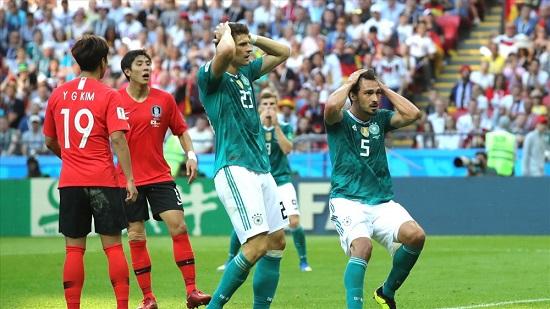 Hàn Quốc thắng đương kim vô địch Đức 2-0.