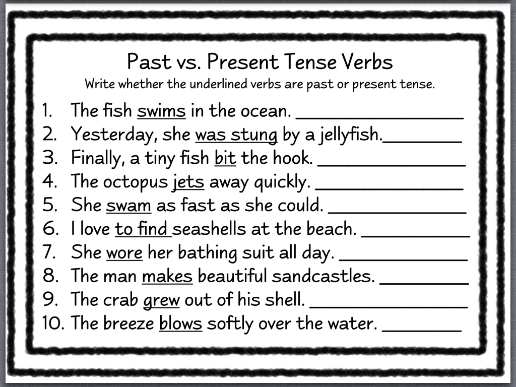 Past Present Future Tense Worksheet