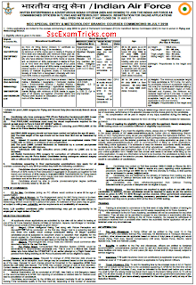 Indian Air Force Meterology Branch Recruitment Notice