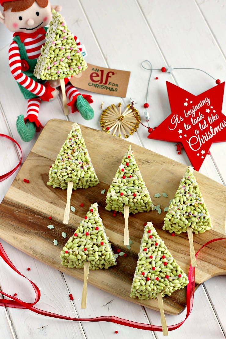 Crispy Christmas Tree Lollipops