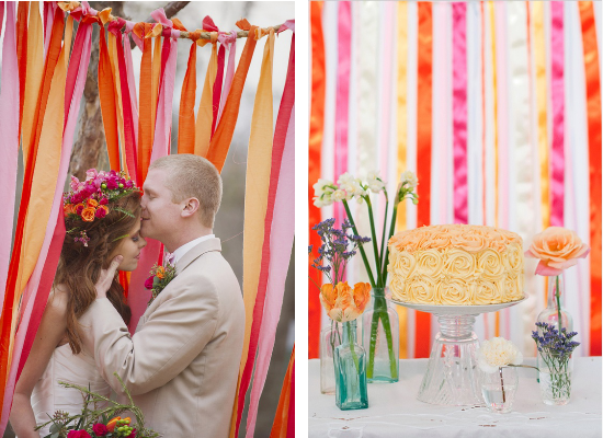 DIY wedding streamers